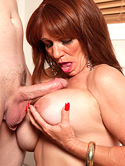 Redhead milf gets cock