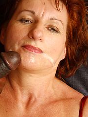 Redheaded older mom still loves to party with a cock or two!