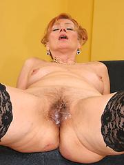 Black cock loving grandma gets stuffed!