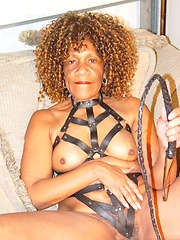 Older black woman Barbara loves dirty games