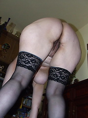 Hairy housewife getting naughty in her living room