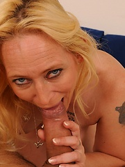 Hot grandma Angeline is fucked with a huge cock