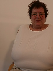 German granny with incredible huge breasts