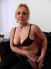 This aged woman is alone and waiting for some cocks