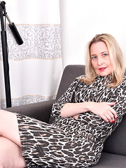 Naughty Blonde British housewife playing with herself