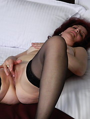 Horny mature slut loves to get naked and naughty