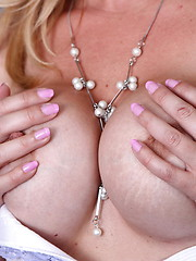 Horny mature blonde showing her hot body