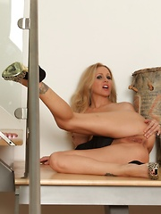 Julia Ann toys her tight asshole!