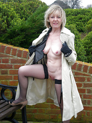 Slutty dressed mature sluts in a nature