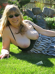 Fat mature ladies showing body and genitals to public