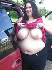 Heavy cars just fit to move so fat mature housewives