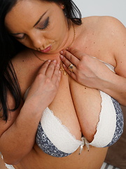 Cute curvy housewife getting wicked and wild