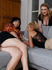 Two housewives share on hot naughty babe